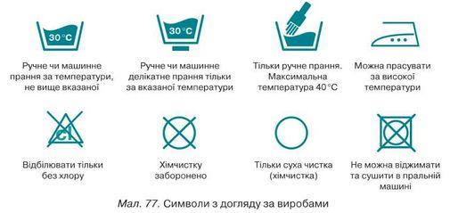 Під час догляду за власними виробами уважно вивчай зазначені на них  символи. Вимоги до виконання волого-теплової обробки cce9869b77b36
